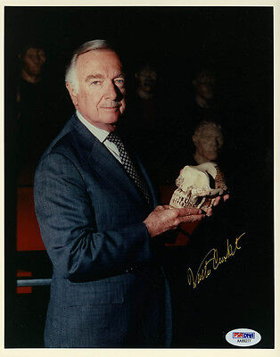 Walter Cronkite SIGNED 8x10 Photo CBS Evening News Anchor PSA/DNA AUTOGRAPHED