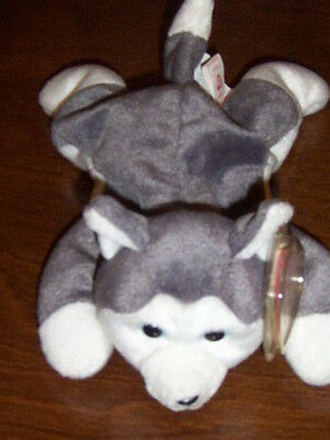 Retired Ty Beanie Baby Nanook The Husky Dog Mint With Tags