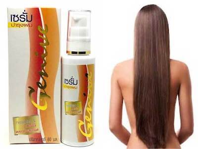 Genive Long Hair Serum Fast Growth helps your hair to lengthen grow faster 60 ml