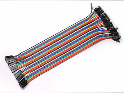 40pcs 20cm Dupont Female to Female Breadboard Jumper Wire Raspberry Pi Arduino