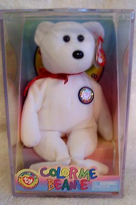 2002 COLOR ME BEANIE *TEDDY BEAR*  by Ty Beanies (Complete Unopened Kit)
