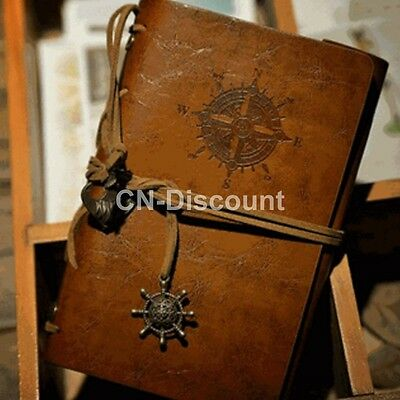 Classic Retro Leather Journal Travel Vintage Notepad Notebook Blank Diary Memo