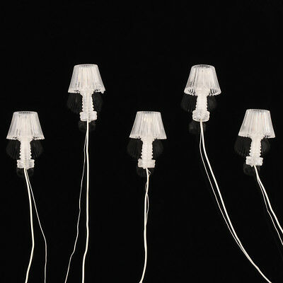 10 pcs G Scale 1:25 Model Railway LED Table Lamppost Desk Lamps Lights