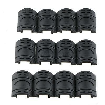 12 X Rifle Weaver Picatinny Hand Guard Quad Rail Covers Rubber Tactical SR1G