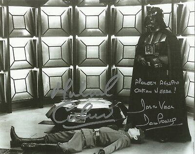 Dave Prowse is Darth Vader from Star Wars hand signed photo UACC AFTAL