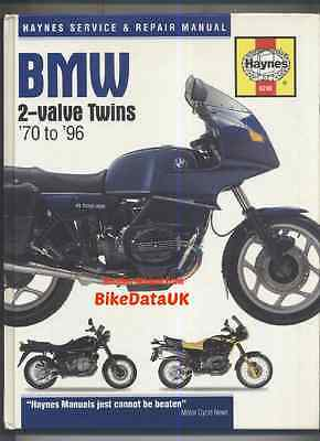 BMW 2 Valve Twins 70 to 96 Haynes Shop Manual Book R 90 80 75 60 50 45 S T RT RS