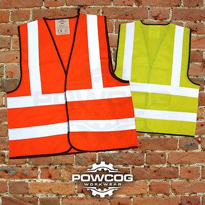 Hi Viz Vest High Vis Safety | YELLOW ORANGE | EN471 Waistcoat Visibility Jacket