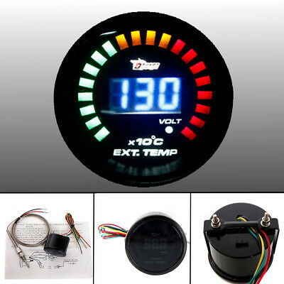 "2"" 52Mm Led Digital Egt Exhaust Gas Temp Temperature Gauge Meter Pointer Sensor"