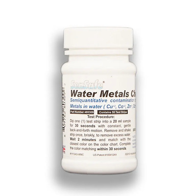 SenSafe Heavy Metals Detection Water Test Kit  Metal Taste 50 Strips