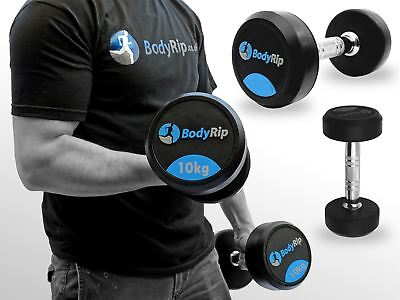 BodyRip Fixed Weights Weight Strength Lifting Dumbbell Gym Set 2 x 10kg