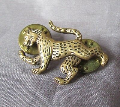 Cheetah  Gold Tone   1 X 1 1/4  Lapel Pin
