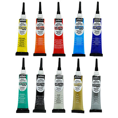 Pebeo Vitrea 160 Stained Glass Paint 3D Relief Outliner 20ml Tube ALL COLOURS