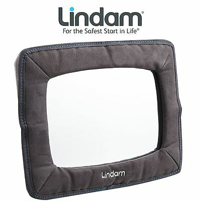 New Lindam Child Safety Extra Large Adjustable Back Seat Car Baby Mirror ACC04