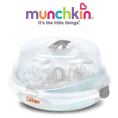 Munchkin Latch Compact Travel Microwave Steam Steriliser Baby Bottle Starter Kit