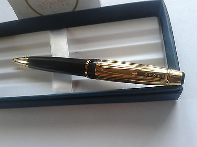24Ct Gold Plated Cross Executive Tuxedo Ballpoint Writing Pen New Gift Boxed
