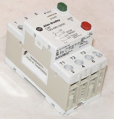 Used Allen Bradley 140-MN-0250 Manual Motor Starter 3 Pole 1.6-2.5A