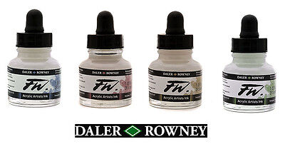Daler Rowney FW Artists Acrylic Ink 29.5 ml Pot - SHIMMERING Colours