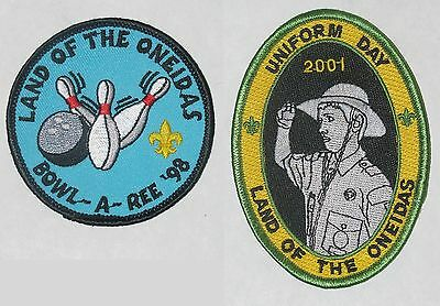 Land of the Oneidas Council (NY) Lot of 2 Activity Patches  BSA  #034