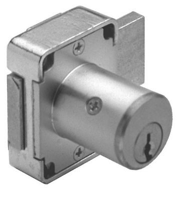 Olympus Lock 100DR Deadbolt Cabinet Door Key Lock Keyway Satin Chrome Plated