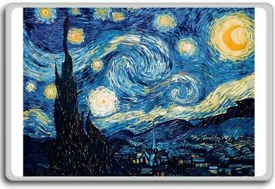 Starry Night By Van Gogh classic art fridge magnet