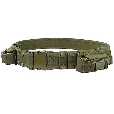 Condor OD Green TB Military Combat Pouch Duty Tactical Belt 2 Pistol Mag Pouch