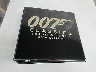 2016 James Bond Classics Trading Cards Official Album/Binder w/ Exclusive Promo