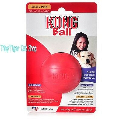 Kong Classic Red Rubber Ball Dog Toy small or medium/large