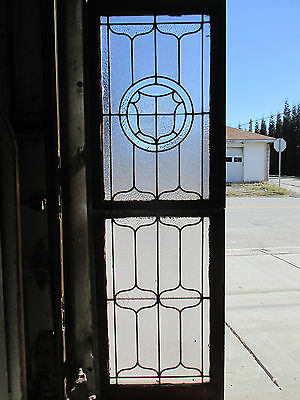 ~ Antique American Stained Glass Windows Top Bottom ~ Architectural Salvage