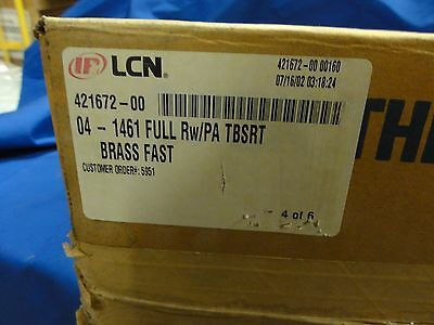 Full case of 4 IR LCN 1461 full RW/PA TBSRT Brass Fast closer