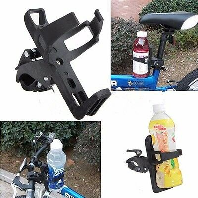 Motorcycle Bicycle Cycle Handlebar Cup Can Water Bottle Drink Holder Convenient