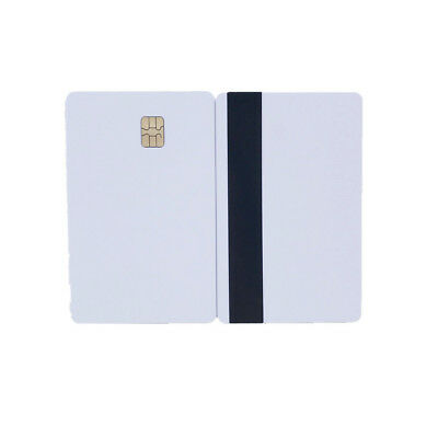 Blank Smart Card Sle4442 Chip with Magnetic Strip Hico 3 track Inkjet PVC - 10X