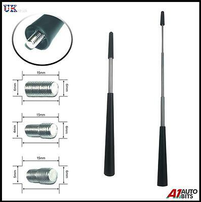 Car Aerial Antenna Black Aluminium Replacement AM FM Radio Signal 13-27CM