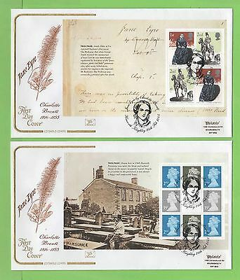 G.B. 2005 Jane Eyre booklet panes set on four Cotswold First Day Covers