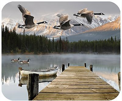 Mouse Pad Personalized Custom Thick Mousepad-Geese With Mountain Lake-Add Text