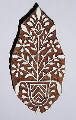 Floral Shaped 10cm Indian Hand Carved Wooden Printing Block (FL102)
