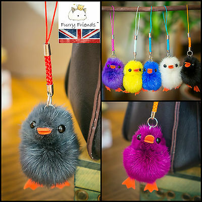 Mink Fur Chick Duck Bird Charm Cute Hairy Soft Unique Hipster Ipad Tag Easter
