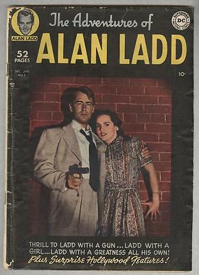 Adventures of Alan Ladd #2 December 1949 VG Photo cover