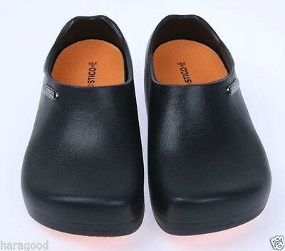 Comfort Shoes Non-Slip Chef Cushion Clog Kitchen Bathroom Water Safety Korea