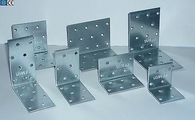 NEW H. DUTY GALVANISED ANGLE BRACKETS CORNER BRACE JOINTS TIMBER different sizes