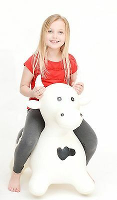 Sam Large Cow Bull Crazy Animal Inflatable Space Hopper Hopping Happy Kid Adult