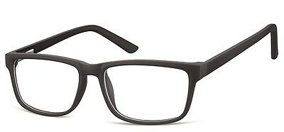 Mens Designer Fashion Glasses Frames - With Anti Scratch Coated Clear Lenses