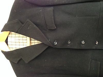 Vintage Black Hunt Coat  - Badsworth Hunt - approx 36 chest ?