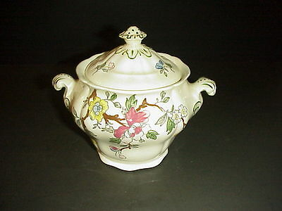 Booths Chinese Tree Sugar Bowl & Lid