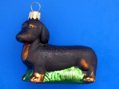 Daschund Dog European Blown Glass Christmas Tree Ornament Decoration Hund Dackel
