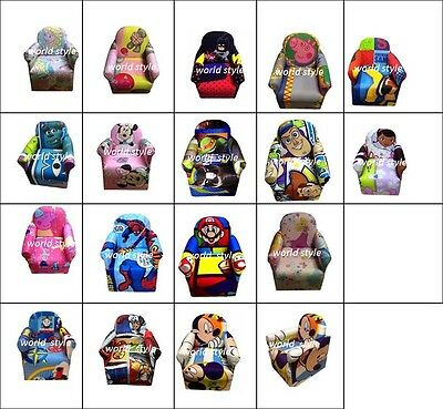 New Childrens Disney Kids Cartoon Character Arm Chair Bedroom Playroom