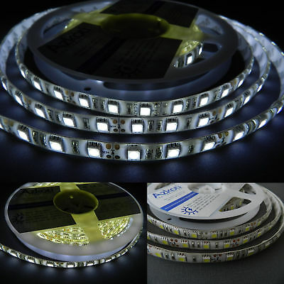 LED Strips Streifen 5 Meter 300 LED 5050  weiß 12.0-13.5 Lm/LED  IP65 sehr hell