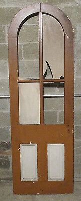~ Antique Arch Top Door With Glass Openings ~ 30 X 89 ~ Architectural Salvage ~