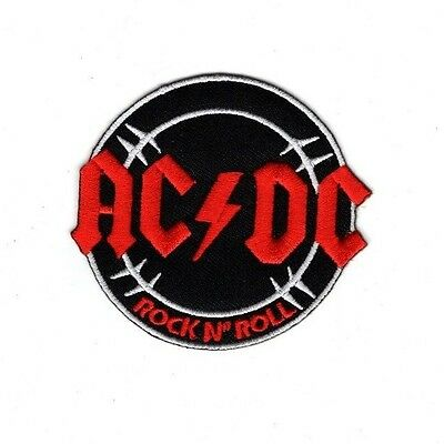 AC/DC HEAVY Embroidered Patch Iron Sew Logo Hardcore Emblem Custom ROCK MUSIC