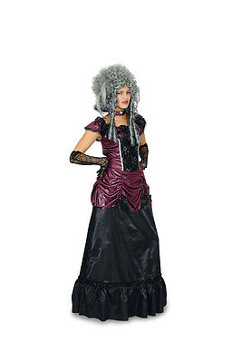 Baroque Rococo Dress Costume Saloon girl Vampire Safron Halloween NEW