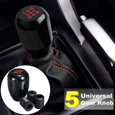 Universal 5 Speed Manual Gear Shifter Stick Car JDM Shift Knob Lever Nob Black